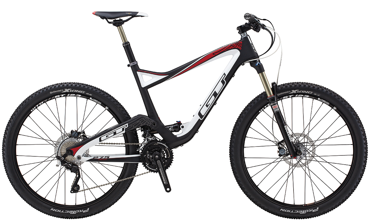 GT Bicycles 2014 GT SENSOR CARBON EXPERT, RAW/WHITE/RED S