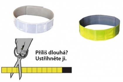 Altima páska reflexní suchý zip 3M bílá