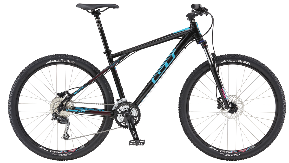 GT Bicycles 2016 GT AVALANCHE 27,5 COMP WOMENS, BLACK/TEAL L