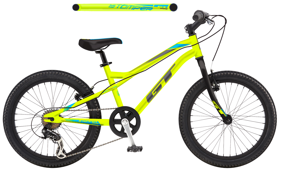 "GT Bicycles 2017 GT STOMPER 20"" PRIME, NEON YELLOW/BLACK (NYL)"