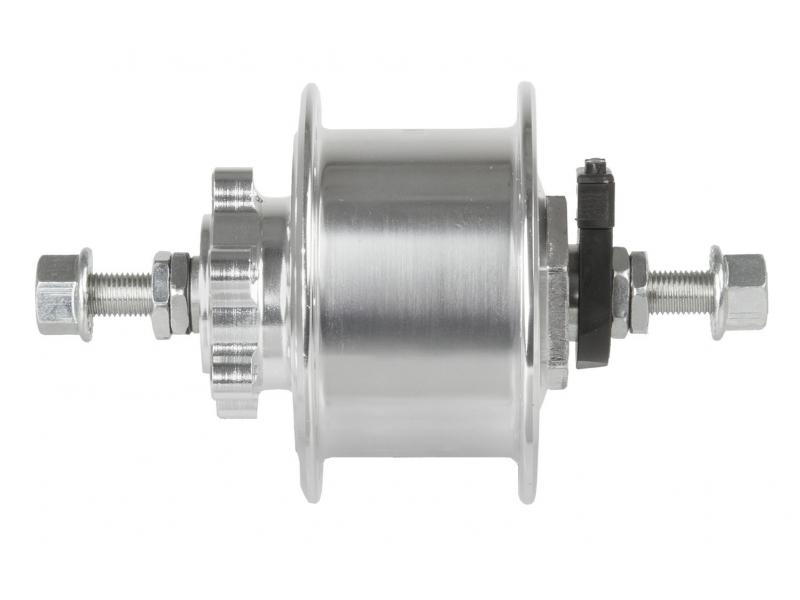 TWN náboj dynamo 6V,3.0W 36d DISC stříbrný pevná osa