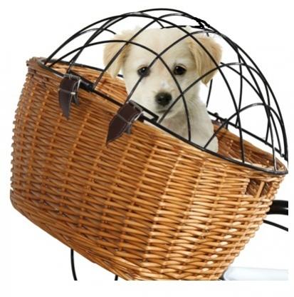 TWN koš přední proutěný pro psy s krytem