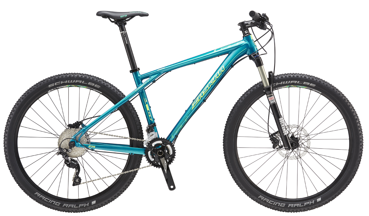 "GT Bicycles 2016 GT ZASKAR 27,5"" COMP WOMENS, MUSTANG TEAL/NEON YELLOW S"