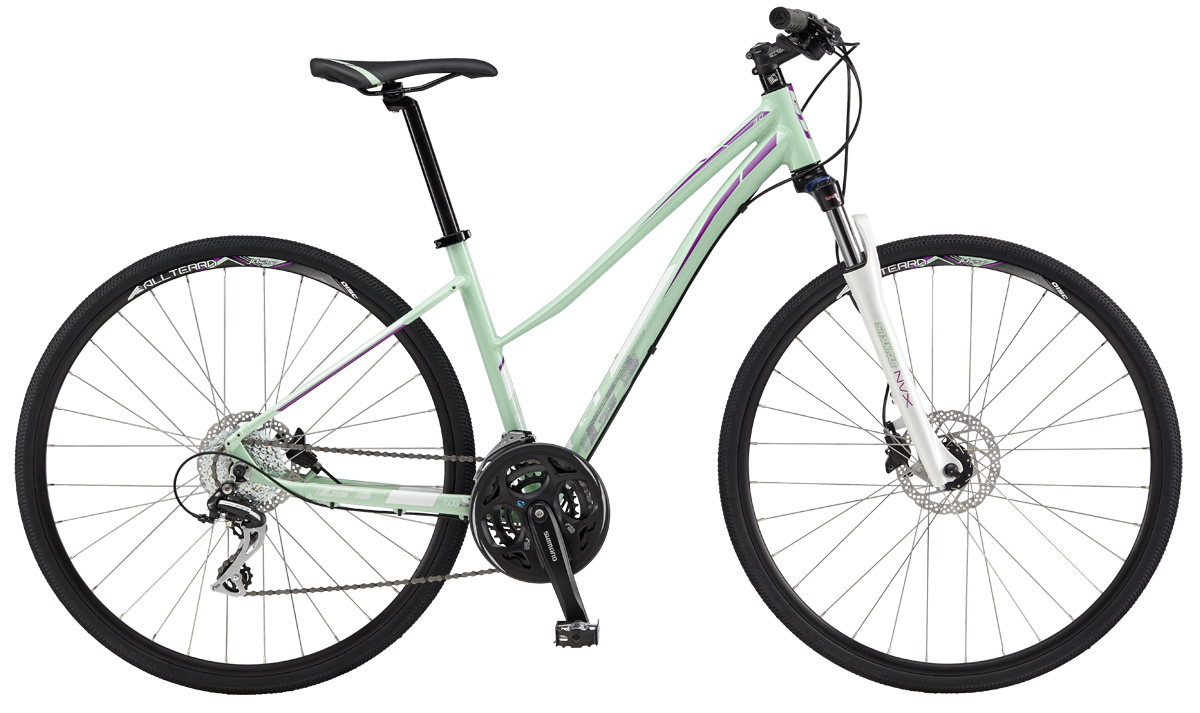 GT Bicycles 2017 GT TRANSEO 3.0 WOMENS, MINT/PURPLE (MNT) L