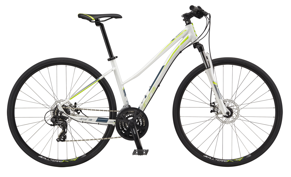 GT Bicycles 2017 GT TRANSEO 5.0 WOMENS, WHITE/STEAL BLUE S