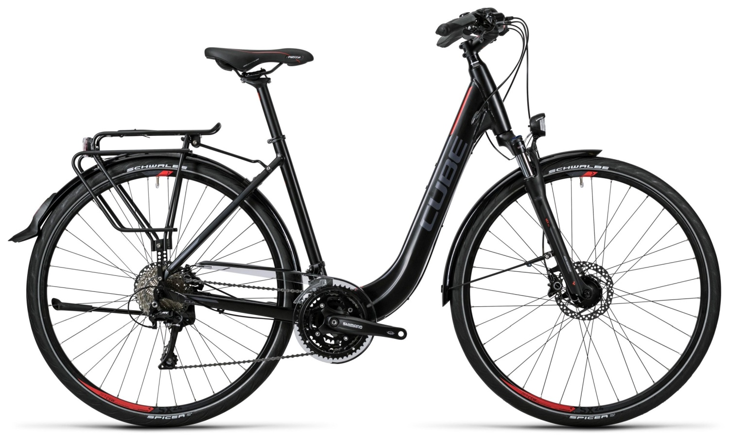 Cube Touring SL black grey red Easy Entry 2016 46E