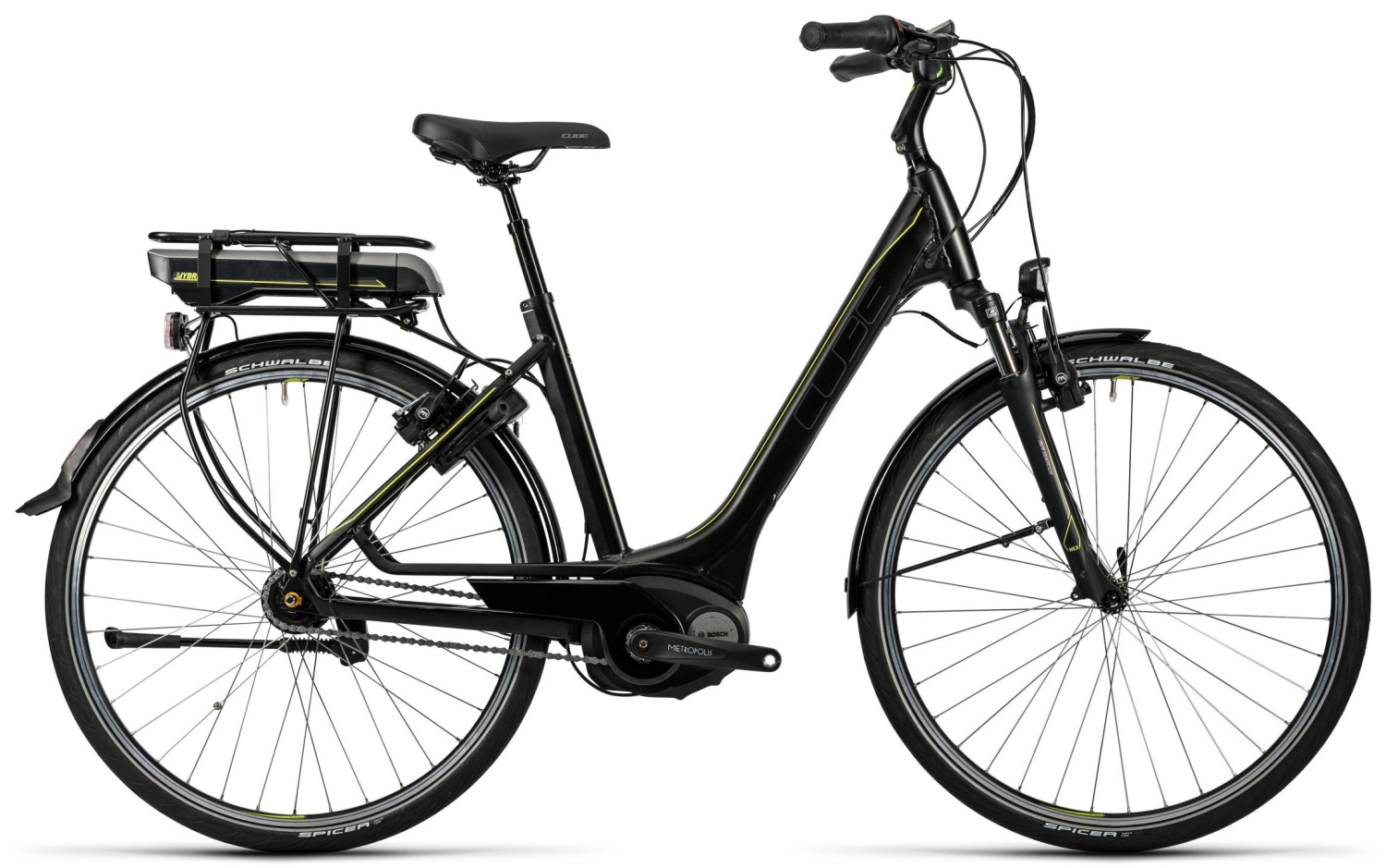 Cube Travel Hybrid 500 black'n'lime 2016 54E