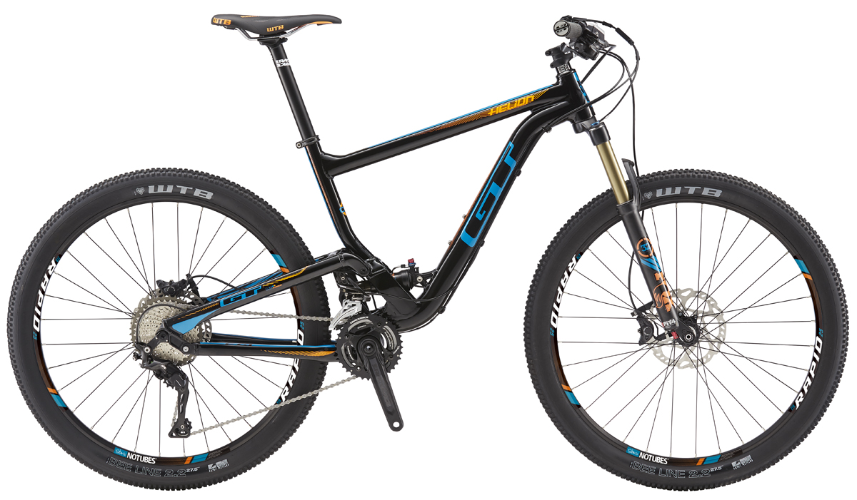 GT Bicycles 2016 GT HELION 27,5 PRO, BLACK/PROCESS BLUE S