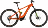 Horské kolo CUBE STEREO HYBRID 120 RACE 500 27,5 2019 orange´n´green