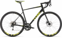 Silniční kolo CUBE ATTAIN RACE DISC 2019 black´n´flashyellow
