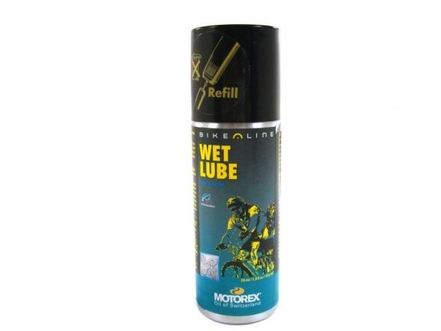 olej-spray MOTOREX 56ml Wet Lube plnící