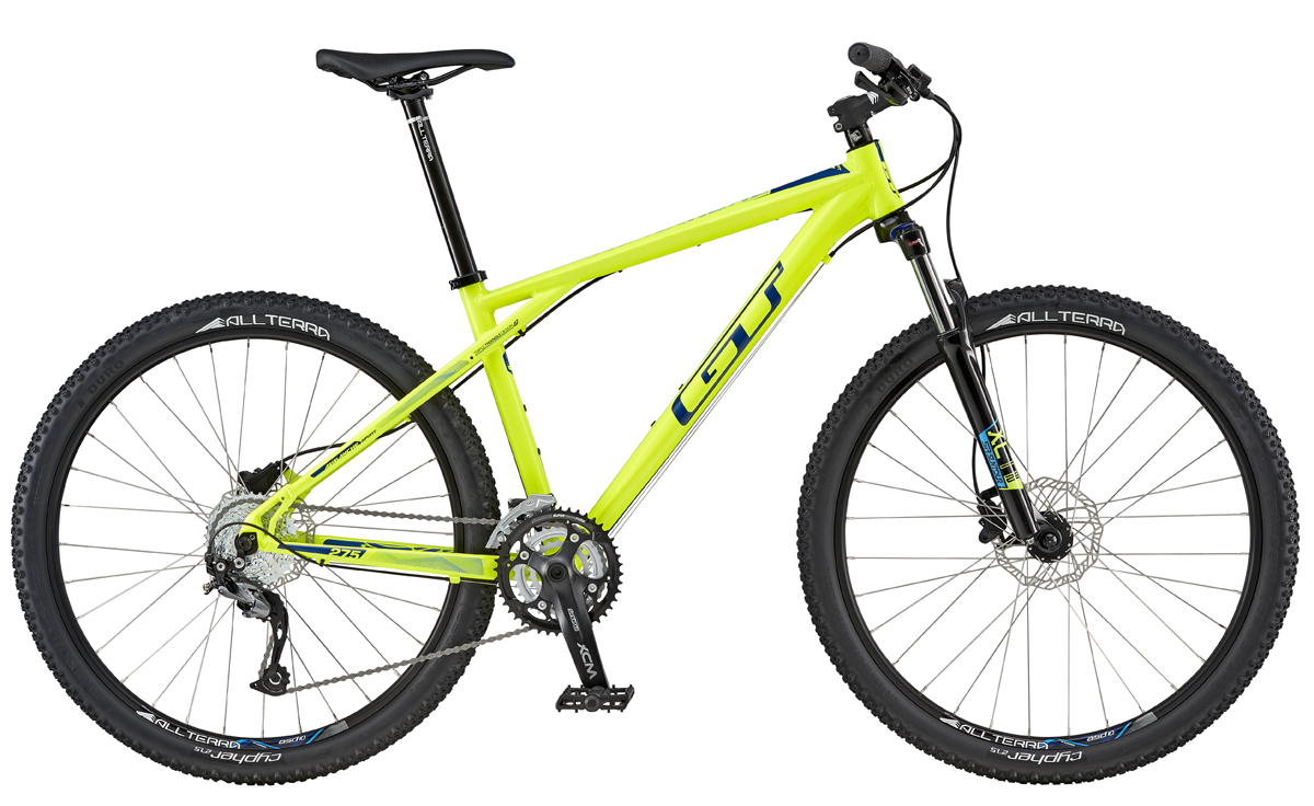 GT Bicycles 2016 GT AVALANCHE 27,5 SPORT, NEON YELLOW/NAVY S