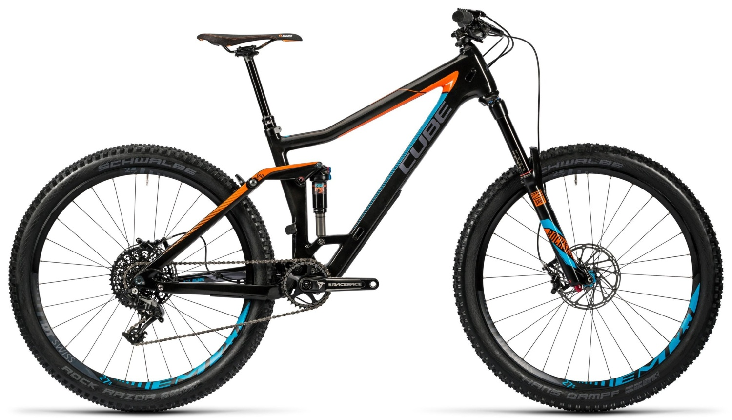 Cube Stereo 160 C:62 SL 27.5 carbon'n'flashorange 2016 16