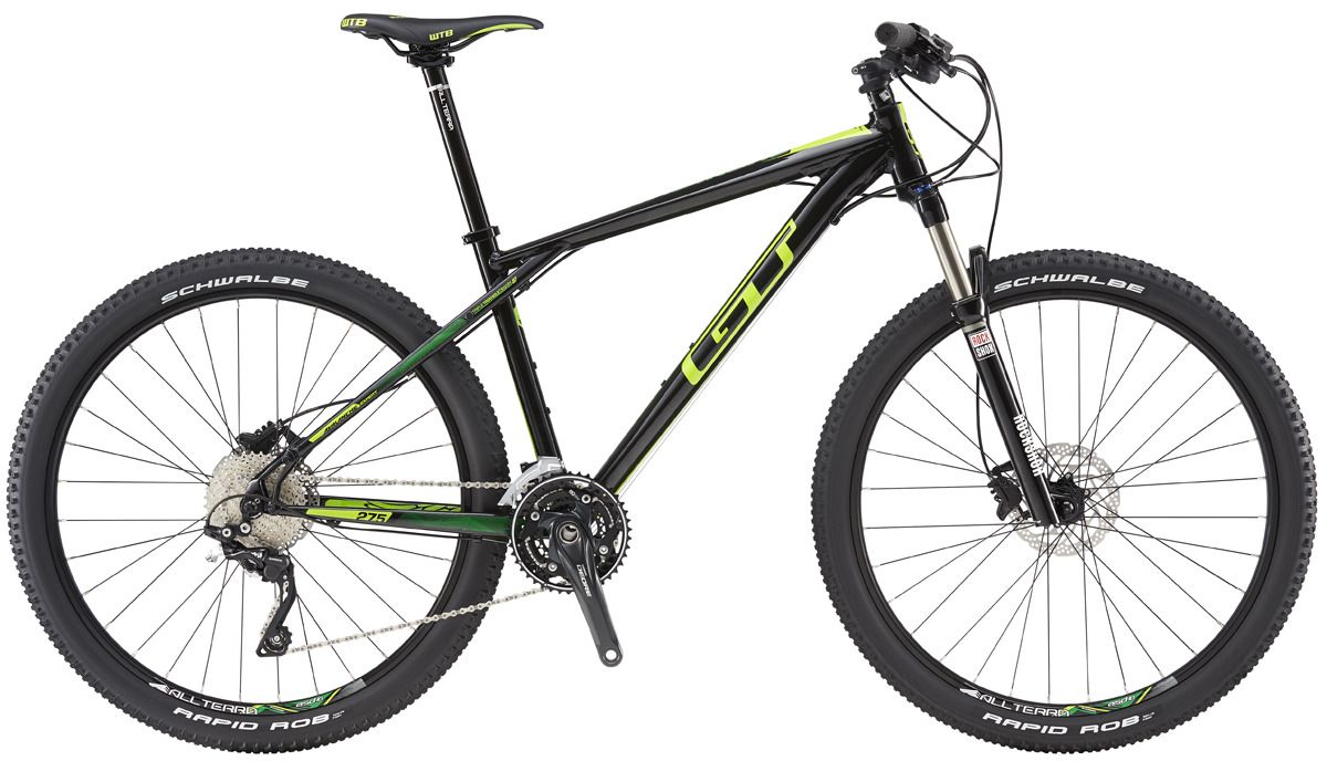 GT Bicycles 2016 GT AVALANCHE 27,5 EXPERT, BLACK/SLIME LIME XL