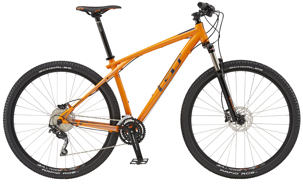 GT Bicycles 2016 GT KARAKORAM 29 ELITE, ORANGE/GUN S