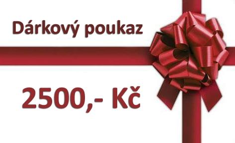 Dárkový poukaz - 2500 Kč